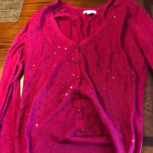 New York and company pink sweater with bling